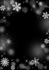 雪の結晶背景
