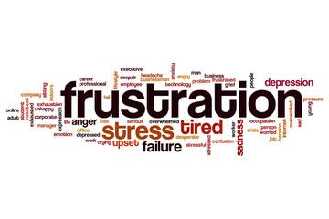 Frustration word cloud concept