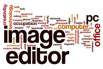 Image editor word cloud concept