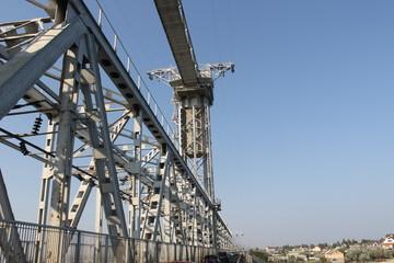 Drawbridge across Dniester estuary