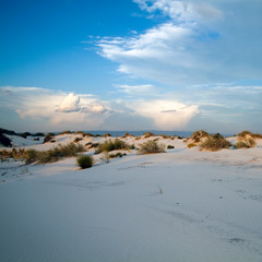 Sunset at White Sands National Monument in New Mexico