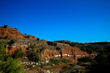 Dramatic geological formations at Caprock Canyons State Park in Texas