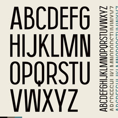 Sans serif font in newspaper style