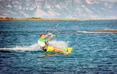 Water fun and kitesurfing on Ada Bojana, Montenegro