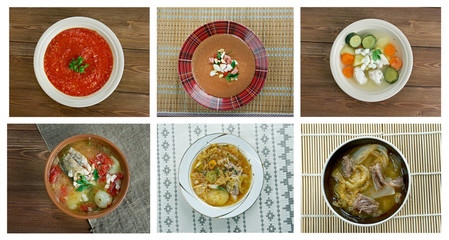 set of different   soups