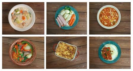 Food set American cuisine.