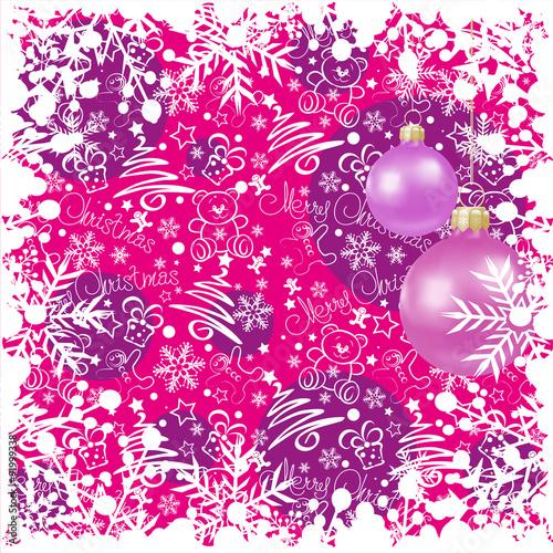 Christmas Wallpaper Balls Pink Day