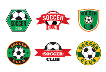 Soccer club logos set