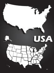 USA map illustration
