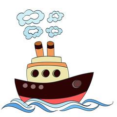little cartoon ship. vector