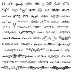 Set of vintage sketch elements.