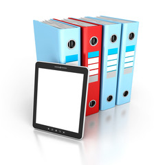 Tablet PC With Office Ring Binders