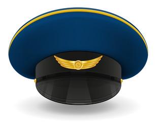 professional uniform cap or pilot vector illustration