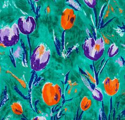 Tulip print fabric