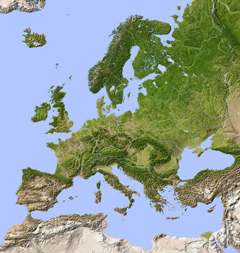 Carte de Europe vegetal