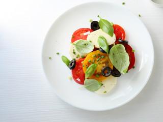 tomato salad on plate