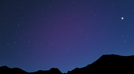 Night Sky in the Mountain
