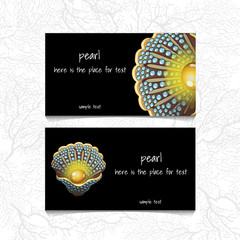 Pearl design horizontal business card, name card