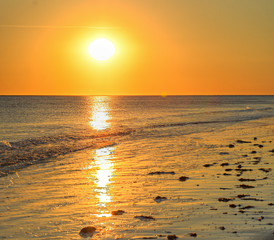Fototapete - Strand Sonnenuntergang