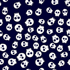 Seamless pattern on the theme of Halloween, wrapping paper, skull