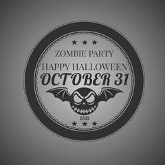 Ready design invitations Halloween Sticker