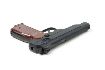 Isolated gun on white