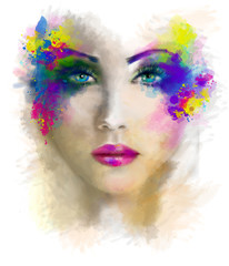 Woman portrait abstract illustration