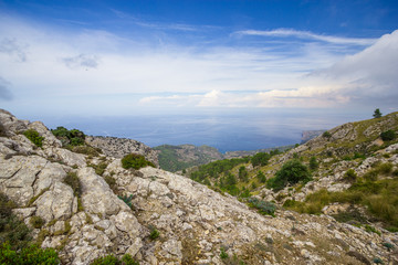 Beautiful view of Sierra de Tramuntana, Mallorca, Spain