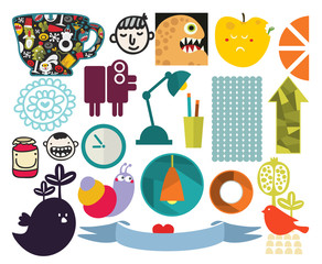 Mix of different vector images. vol.72
