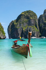 Tradition Thailand boat at Khao Phing Kan islands