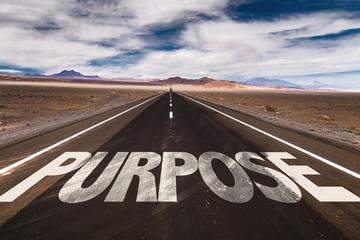 Purpose written on desert road Wall mural