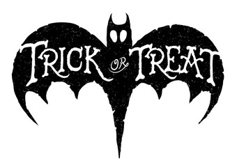 Bat Trick or Treat Illustration