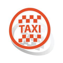 Taxi sign sticker, orange