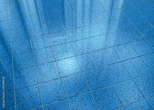 Pavimento in marmo, blu a piastrelle\