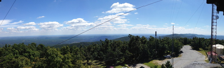 View from observation tower on Cheaha Mountain, Alabama