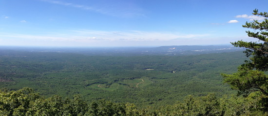 View from Bald Rock on Cheaha Mountain