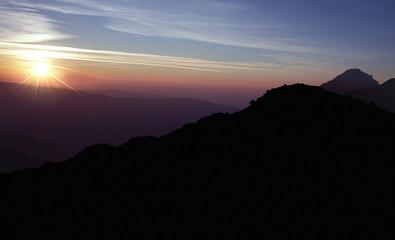 beauty sunrise landscape