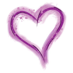 Purple Paint Heart