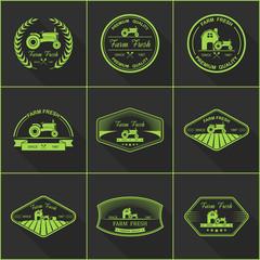 Set of retro farm fresh labels,vector