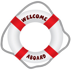 Welcome aboard lifebuoy
