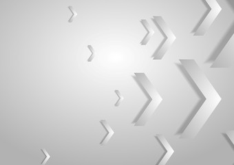 Grey tech geometric corporate background with arrows