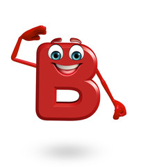 Cartoon Character of alphabet B