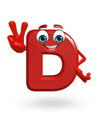 Cartoon Character of alphabet D