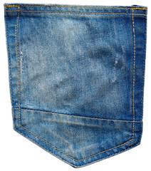Pocket of jeans pants