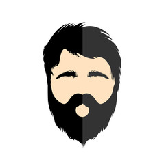 Illustration of flat design with hipster style man