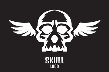 skull logo wings