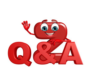 Cartoon Character of alphabet Z with Q and A