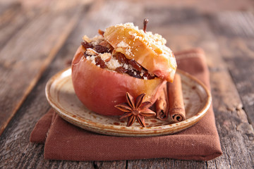 baked apple and spices