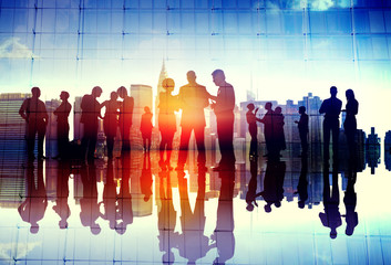 Business People Meeting Discussion Communication Concept Wall mural