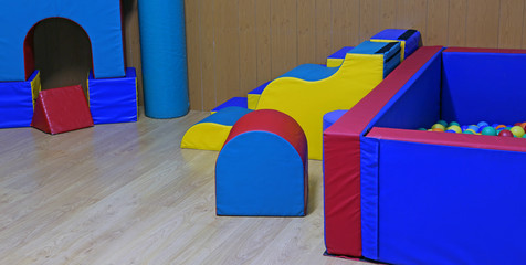 gym for physical exercises of children in a kindergarten